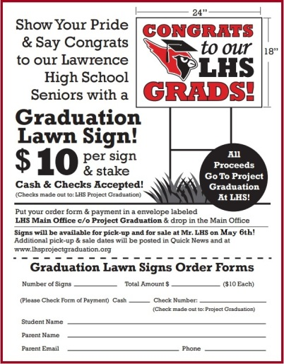 order from for LHS Lawn Sign