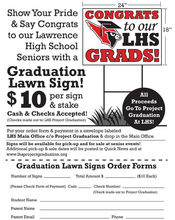 project graduation lawn sign order form