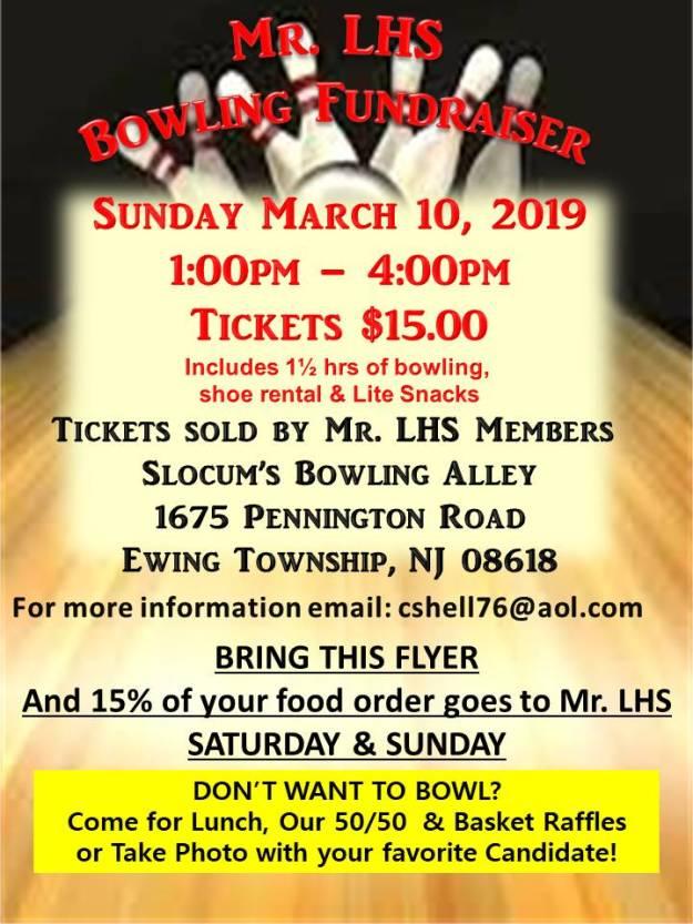 lhs project graduation bowling flyer