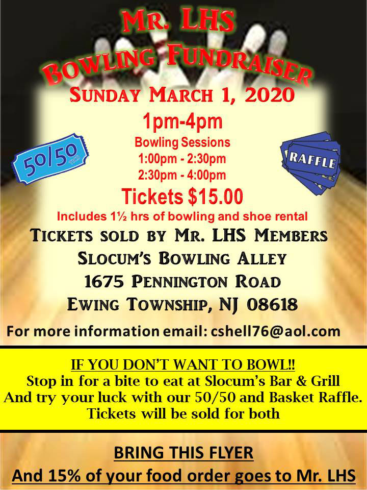 flyer for bowling event march 1 2020